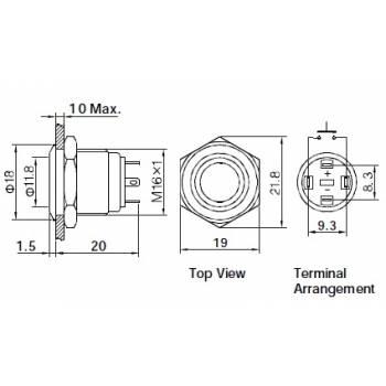 16 mm GQ16F-10Esablon-350×350