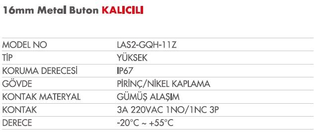 16 mm LAS2-GQH-11Ztablo