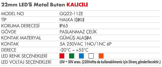22 mm metal GQ22-11ZEtablo